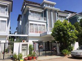 金边 Phnom Penh Thmei វីឡាភ្លោះសំរាប់លក់ក្នុងបុរី ប៉េង ហួត ជិតផ្សារ អេអន 2 4 卧室 房产 售