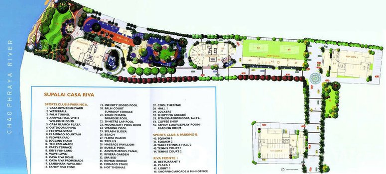 Master Plan of Supalai Casa Riva - Photo 1