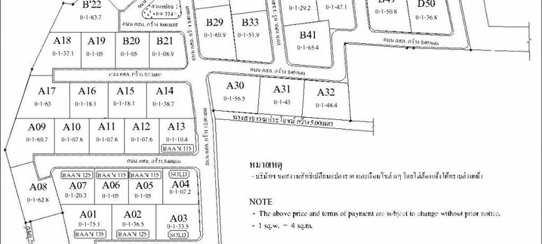Master Plan of Baan Pattaya 5 - Photo 1