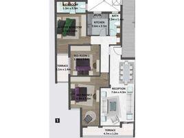 3 غرف النوم شقة للبيع في North Investors Area, القاهرة Fifth Square