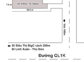 N/A Land for sale in Dong Hoa, Binh Duong Tin Được Không * Đất Phường Đông Hòa Mà Gần Siêu Thị Bigc Và Ql1k *Giá Chỉ Có 15 Triệu/m2, DT 270m2