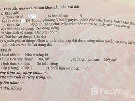Studio House for sale in Phuoc Long, Khanh Hoa Bán nhà mặt tiền đường Dã Tượng, Nha Trang 143,5m2 có nhà cấp 3 209m2 sàn, giá 150tr/m2. +66 (0) 2 508 8780