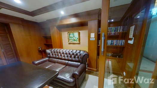 3D Walkthrough of the Library / Reading Room at Wattana Suite