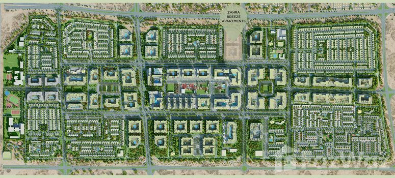 Master Plan of Zahra Townhouses - Photo 1