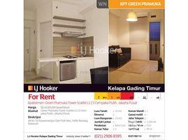 Aceh Pulo Aceh Apartemen Green Pramuka Tower Scarlet Lt.23 Cempaka Putih 2 卧室 住宅 售