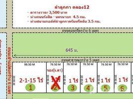 N/A Grundstück zu verkaufen in Bueng Kho Hai, Pathum Thani Land for Sale in Lum Luk Ka Klong 12