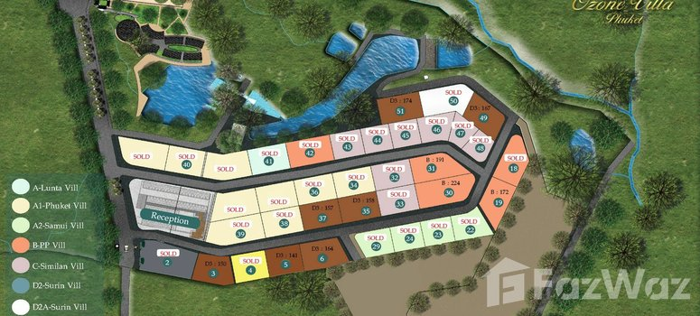 Master Plan of Ozone Villa Phuket - Photo 1