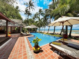 苏梅岛 Na Mueang True Beachfront Luxury, 4-Bed Pool Villa, Steps From The Sea 4 卧室 屋 租