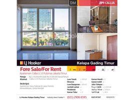 Aceh Pulo Aceh Apartemen Callia Lt.10 Pulomas Jakarta Timur 2 卧室 住宅 售