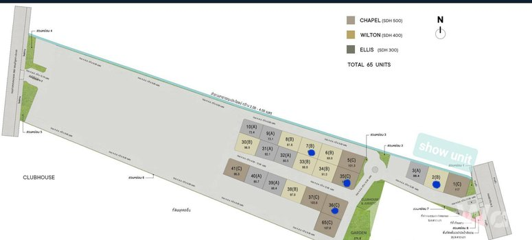 Master Plan of Belgravia Exclusive Pool Villa Bangna Rama9 - Photo 1