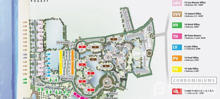 Master Plan of Grand West Sands Resort & Villas Phuket - Photo 1