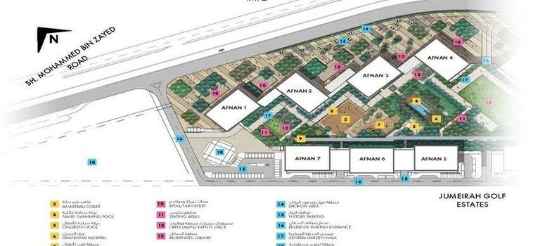 Master Plan of Afnan By Deyaar at Midtown - Photo 1