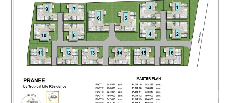 Master Plan of PRANEE by Tropical Life Residence - Photo 1