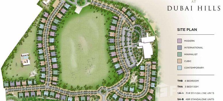 Master Plan of Club Villas at Dubai Hills - Photo 1