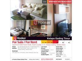 Aceh Pulo Aceh Apartemen Frenchwalk Tower Loudres Lantai 31 Kelapa Gading 3 卧室 住宅 售