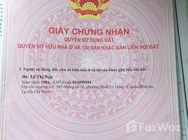 Studio House for sale in An Lac, Ho Chi Minh City Bán nhà khu Y Tế Kỹ Thuật Cao, Aeon Mall Bình Tân; 4,5x14.5m 5 tỷ 975 triệu TL. LH +66 (0) 2 508 8780