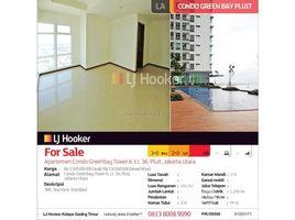 Aceh Pulo Aceh Apartemen Condo Greenbay Tower K 3 卧室 住宅 售