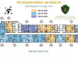 河內市 Giang Vo The Golden Armor 2 卧室 住宅 售