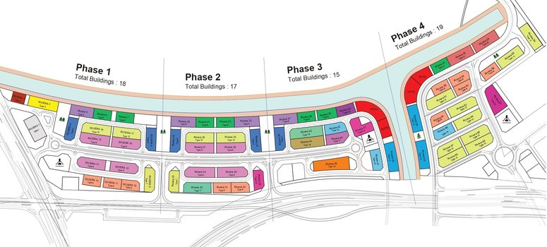 Master Plan of AZIZI Riviera 1 - Photo 1