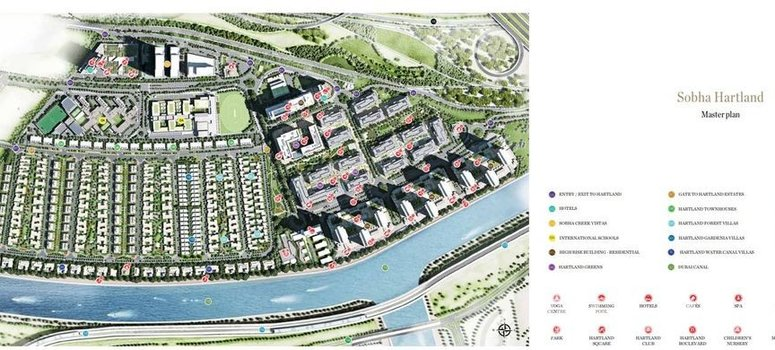 Master Plan of Sobha Hartland - Townhouses - Photo 1