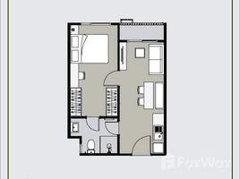1 Schlafzimmer Wohnung zu vermieten in Sam Sen Nok, Bangkok The Privacy Ratchada - Sutthisan