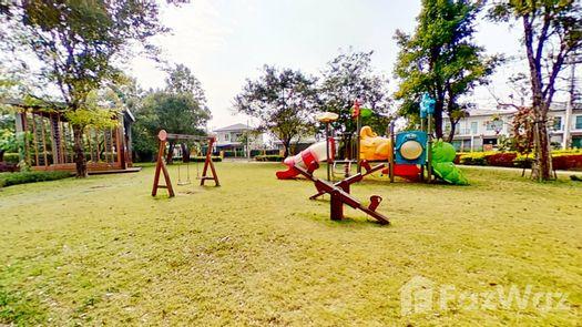 3D Walkthrough of the Communal Garden Area at Passorn Pride Chiang Mai