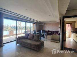 2 Schlafzimmern Appartement zu vermieten in Na Menara Gueliz, Marrakech Tensift Al Haouz Superbe Appartement moderne à louer vide de 2 chambres avec grande terrasse sans vis à vis et magnifique vue, dans une résidence avec piscine au trian