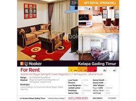 Aceh Pulo Aceh Apartemen Royal Springhill Tower Magnolia Lantai 7 Kemayoran 1 卧室 公寓 售