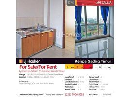 Aceh Pulo Aceh Apartemen Callia Lt.03 Pulomas Jakarta Timur 3 卧室 住宅 售