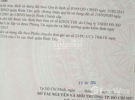 N/A Land for sale in Tan Tao A, Ho Chi Minh City Bán lô đất 1076 m2 - Đất thổ cư 100% - nằm ngay cầu tân tạo - Tỉnh lộ 10 - Giá bán 20ty - Còn thươn