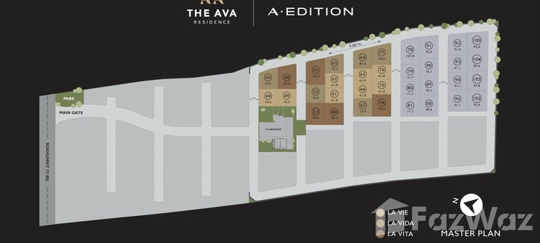 Master Plan of The Ava Residence - Photo 1